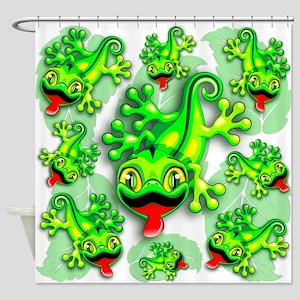 Gecko Lizard Baby Cartoon Shower Curtain