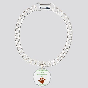 RESCUE the mistreated SA Charm Bracelet, One Charm