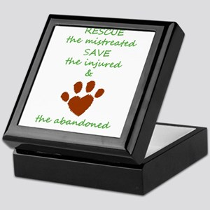 RESCUE the mistreated SAVE the injure Keepsake Box