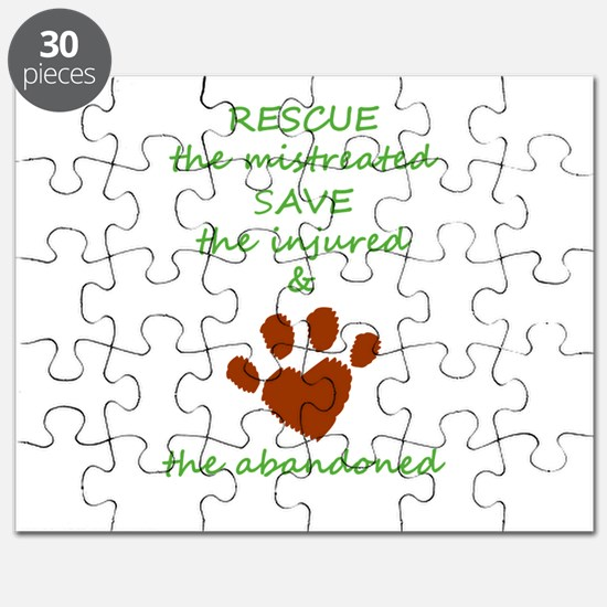 RESCUE the mistreated SAVE the injured LOVE Puzzle