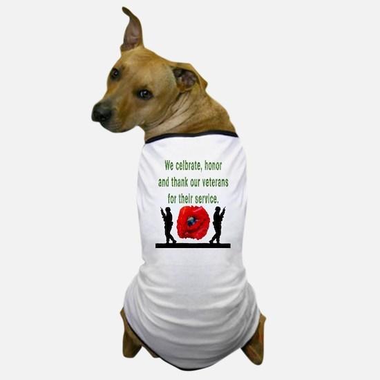 Cute Military thank you Dog T-Shirt