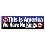 In America, No Kings: Anti-Trump Bumper Sticker