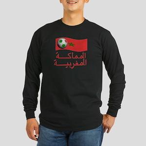 TEAM MOROCCO ARABIC Long Sleeve Dark T-Shirt