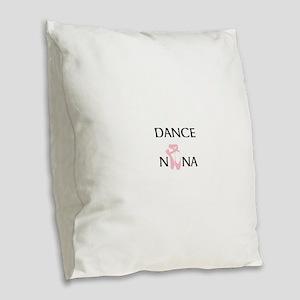Dance Nana Pointe Pink Burlap Throw Pillow