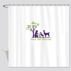 paws for healing Shower Curtain