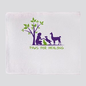 paws for healing Throw Blanket