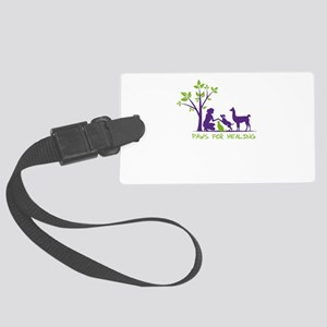 paws for healing Large Luggage Tag