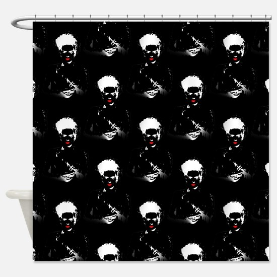 Negative Bride Shower Curtain
