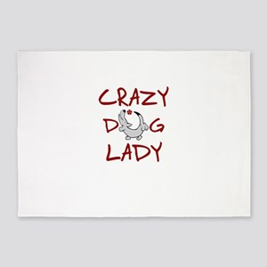 crazy dog lady 5'x7'Area Rug