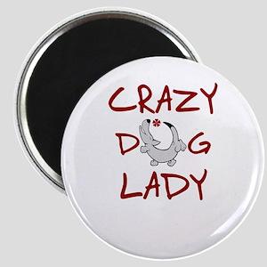 crazy dog lady Magnets