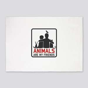 animals are my friends 5'x7'Area Rug
