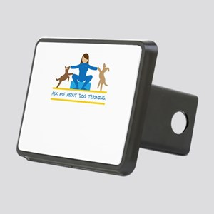 ask me about dog training Rectangular Hitch Cover