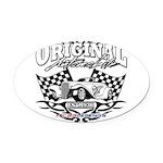 1936 Hot Rod Oval Car Magnet