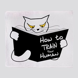 How to train your human Throw Blanket