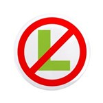 "No L 3.5"" Button (100 Pack)"