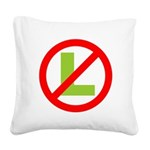 NO L Square Canvas Pillow