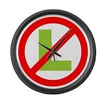 NO L Large Wall Clock