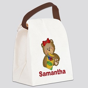 Samantha's Crayon Bear Canvas Lunch Bag