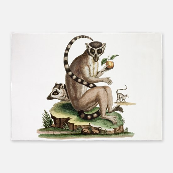 Lemur Artwork 5'x7'Area Rug