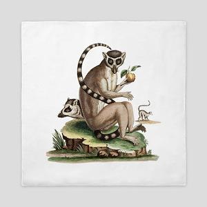 Lemur Artwork Queen Duvet