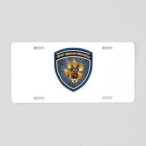 i love my german shepherd Aluminum License Plate