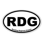 Reading Regional Airport Oval Sticker
