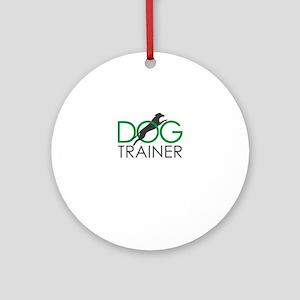 dog trainer Round Ornament
