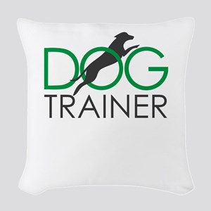 dog trainer Woven Throw Pillow