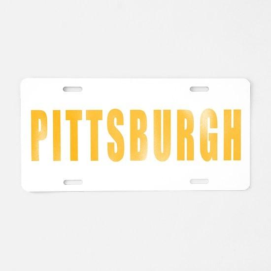 Cute City of pittsburgh Aluminum License Plate