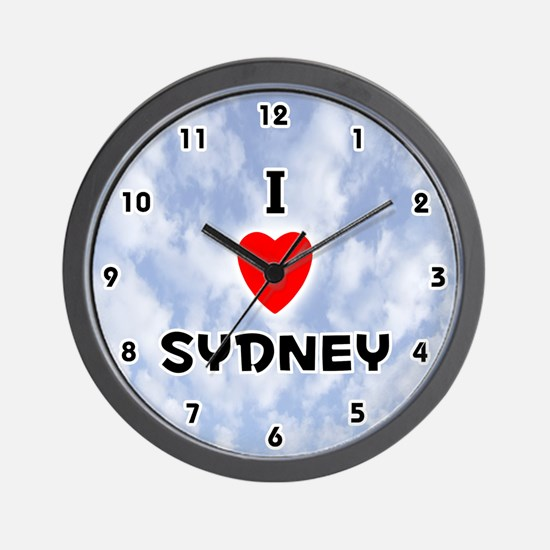 I Love Sydney (Black) Valentine Wall Clock