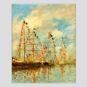 Yacht Basin at Trouville by Eugène Boudin Posters