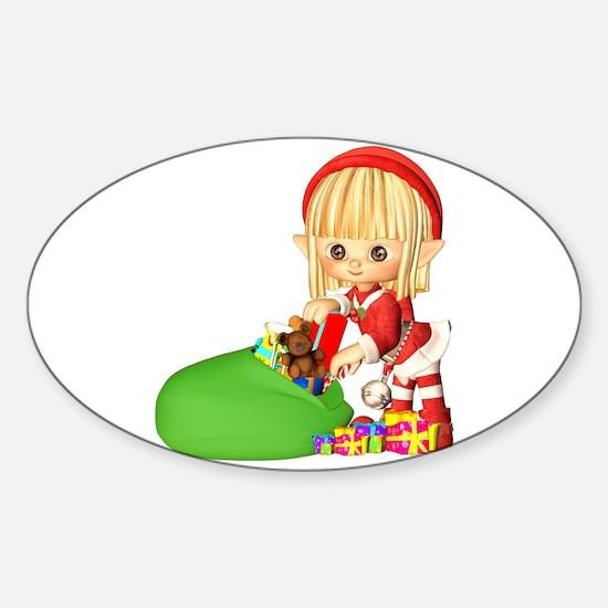 Santa's Little Elf Decal