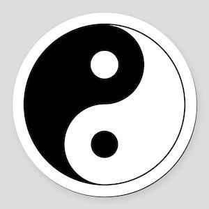 Yin Yang Symbol Round Car Magnet