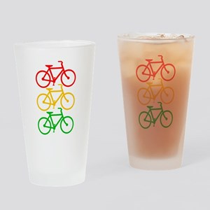 Stop and Go Light Bikes. Drinking Glass