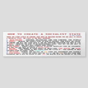 Socialist State Alinsky B Bumper Sticker