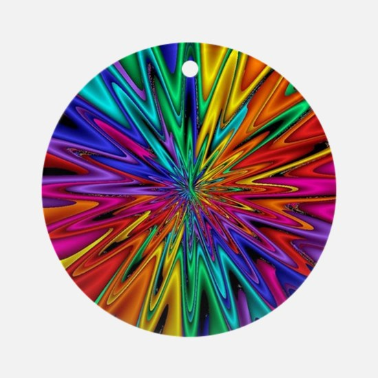 Round Ornament Rainbow Starburst
