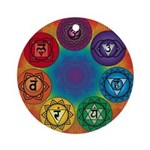 Chakra Section Round Ornament