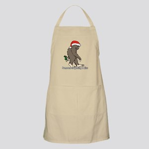Someone is getting a kiss Bigfoot Apron