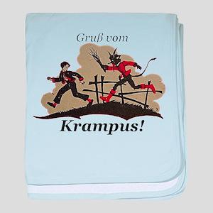 Gruss vom Krampus! baby blanket