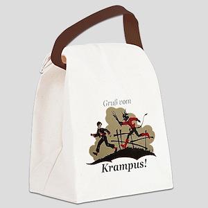 Gruss vom Krampus! Canvas Lunch Bag