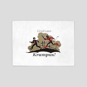Gruss vom Krampus! 5'x7'Area Rug