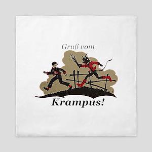 Gruss vom Krampus! Queen Duvet
