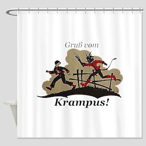 Gruss vom Krampus! Shower Curtain