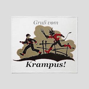 Gruss vom Krampus! Throw Blanket