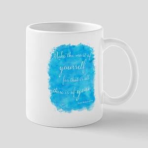 Emerson Blue Watercolor Motivational Quote Mugs