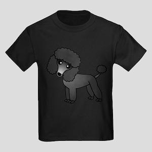 Cute Poodle Black Coat T-Shirt