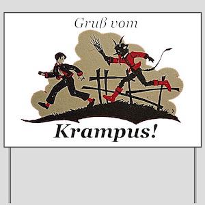 Gruss vom Krampus! Yard Sign