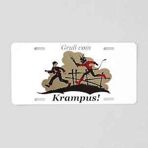 Gruss vom Krampus! Aluminum License Plate