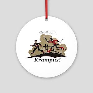Gruss vom Krampus! Round Ornament