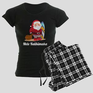 Mele Kalikimaka Women's Dark Pajamas